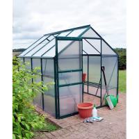 Best 8*8FT aluminum greenhouse---two doors and one roof window wholesale