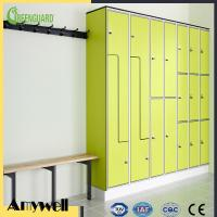 China Amywell SGS passed durable 10mm hpl laminate sheet 8 door gym locker for school on sale