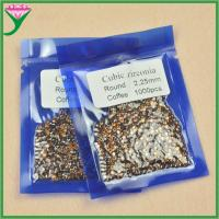 Best China round faceted small coffee cz stone cubic zirconia semi precious brown stones wholesale