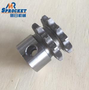 China 45C Steel Duplex Chain Sprocket 06-2B12 06b Custom Sprocket Nature Color on sale