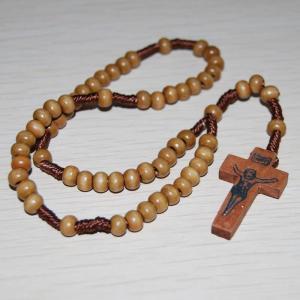 China Wood cord rosary,catholic rosary,rosary beads,rosary necklace on sale
