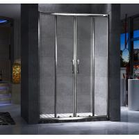 Best Four Doors Custom Glass Shower Doors And Frame Translucent PVC Strips Waterproof wholesale