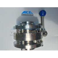 Best Stainless Steel Food Grade Manual Welded Butterfly Valve (ACE-DF-1A) wholesale