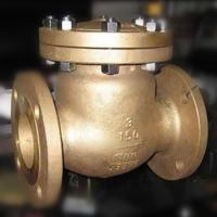 China Flap Type Bronze Swing Check Valve , Metal Seated Check Valve Integral Seat RF RTJ BW on sale