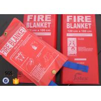 China White Fiberglass Kitchen Fiber Glass Fabric Industrial Emergency Fire Blanket on sale