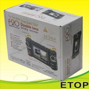 Best F20 dual lens hot sell car dvr wholesale