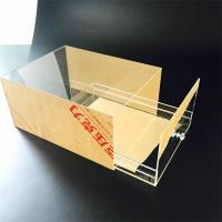 Best high transparent acrylic popular custom size shoe box with drawer wholesale