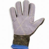 Best Cut-resistant Leather Faced Kevlar/Stainless Steel/Cotton Glove, CE Certified wholesale