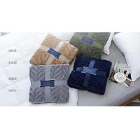 Best Wearable 100% Polyester Solid Flannel Blanket / Plush Blankets For Home And Travel wholesale