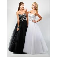 Best Empire Strapless Organza Party Dresses, Long Beaded Prom Dress wholesale