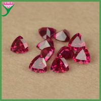 Buy cheap high quality 5# machine trillion cut synthetic ruby stone for sale from wholesalers
