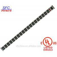 China IEC 60320 C13 C14 PDU POWER STRIP Smart 19 Outlet Power Bar For Network Cabinet , Multiple Electrical Outlets on sale