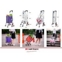 Best Aluminum folding shopping cart with stair climbing wheels for personal in supermarket, grocery store and farmer markets wholesale