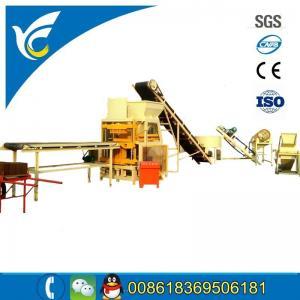 China Automatic soil clay press brick block molding machine line for sale/no need fire block brick machine on sale