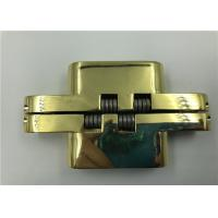 China Gold Plated Hidden Door Hinges For 30mm Solid Wood Doors , Fireproof Door on sale