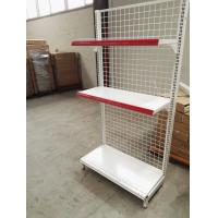 Best Supermarket Convenience Store Wire Mesh Shelves , White Wire Shelving Units wholesale
