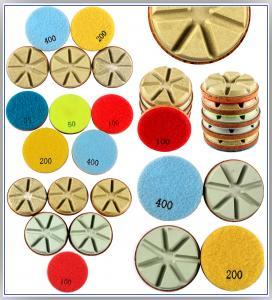 China Diamond Polishing Pads Dry Use For Hard Concrete C40+(40 mpa.) and Terrazzo on sale