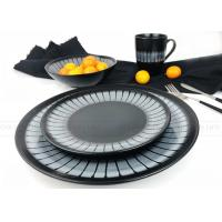 China Home Use Ceramic Dinnerware Sets Fashionable Hand Painted Black Color on sale