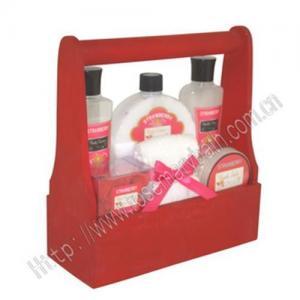Best Wooden box bath gift set wholesale