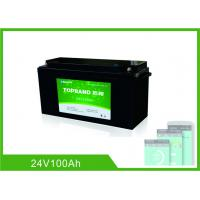 Best 24V 100AH Deep Cycle Lithium Battery , UPS Rechargeable Lifepo4 Battery Bluetooth wholesale