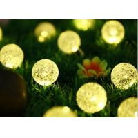Buy cheap 6M 30LED bulbs solar panel power ball LED string lights fairy light for christmas halloween party wedding decoration from wholesalers