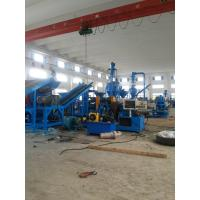 Best Blue High Efficiency Waste Tire Recycling Machine , Tyres Diameter Less Than 1.2 Meters wholesale