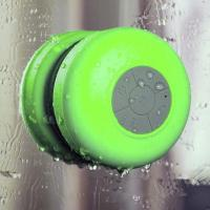 China Bathroom Waterproof Sucker round wireless Bluetooth shower speaker on sale