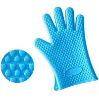 Best Anti-slip Heat Resistance Silicone Grilling BBQ Gloves With Heart Shaped Point wholesale