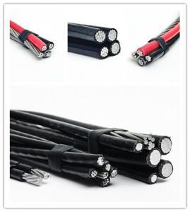 Best 120 Volt Aerial Service Aluminum Overhead Power Cables Quaduplex Cores wholesale