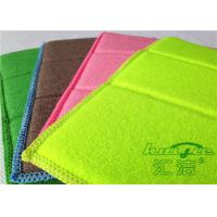 China Reusable Microfiber Dishcloths Green , Kitchen Dish Towel 17 x 23cm on sale