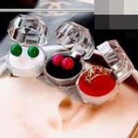 Best Jewelry Package Ring Earring Box Acrylic Transparent Wedding Packaging Jewelry Box wholesale
