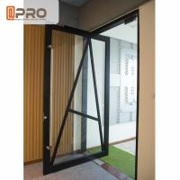 Best Multi Color Aluminum Pivot Doors ISO Certification With Tempered Glass wholesale