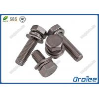 Best A2-70 Stainless Steel Hex Head SEMS Screws with Flat + Spring Washers wholesale