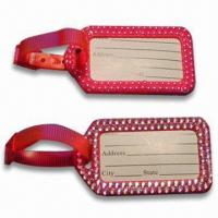 Best Luggage Tags with Name Card, Made of Plastic wholesale