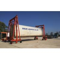 Best Heavy Duty Mobile Container Crane Steel Red Color For Seaport Transportation wholesale