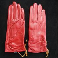 China Leather Womens Waterproof Gloves , Sheepskin Womens Leather Dress Gloves on sale