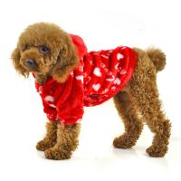Red and blue color fleece warm dog clothes