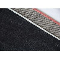 Buy cheap 14.7oz Raw Selvage Jeans Cotton Denim Fabric For Workwear 72 * 52 Density from wholesalers