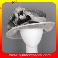 Best Elegant fancy Church sinamay hats for ladies ,Sinamay mid brim church hat wholesale