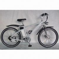 China Mountain E-bike with Aluminum Frame, Brushless Motor, Shimano Gears, CE-certified on sale