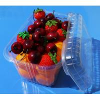 Best Disposable plastic fruit vegetable food packaging tray 900 grams strawberry packaging tray PET plastic box for fruit wholesale