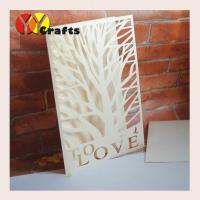 Best First communion invitation card ivory tree wedding invitation card with love letters wholesale