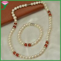 Best AA fresh water pearl wedding pakistani indian bridal pearl jewelry sets wholesale