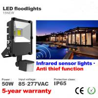 Best 50W LED Floodlight PIR Infrared induction Motion sensor High lumens Flooding Spotlight wholesale