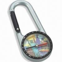 Best Compass with Carabiner, Fit for Travel, Available in Size of 6.9 x 3.0 x 0.8cm wholesale