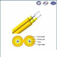 China 0.9mm Tight Buffer Fiber Optic Cable For Indoor Use Simplex GJFJV on sale