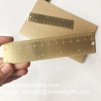 Best Satin brush brass bookmark ruler, OEM brushed brass mini ruler bookmarks wholesale