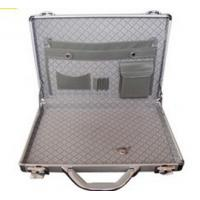 Best Fashion Aluminum Laptop Case , Silver Hard Metal Suitcase Easy To Clean Up wholesale