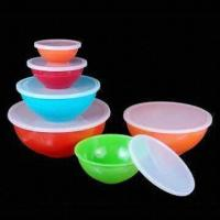 Best 6-piece Serving Bowl Set with PE Lid Set, Made of Melamine, Available in Assorted Colors wholesale