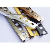 China Square / Straight Edge Tile Edge Trim 8mm 9mm From Aluminum For Outside Corner on sale